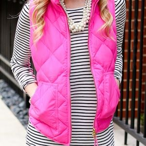 J. CREW Pink Vest Size S